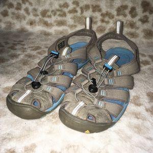 Keen Women's Waterproof Hiking Sandals Blue Shoes